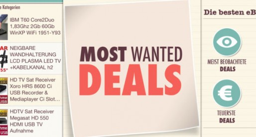 (Deutsch) Most Wanted Deals 1.0: Schnäppchen bei eBay landen