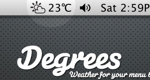 Degrees 2.0.8: Weather forecast on the Mac