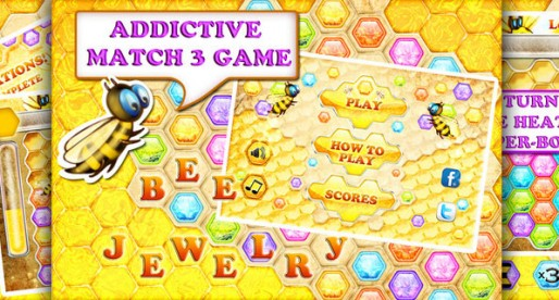 Bee Jewelry 1.0: Unusual Match-3-Game