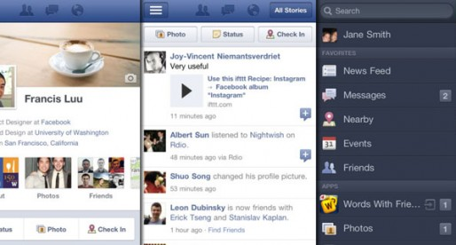 Facebook 4.1.1: Facebook-App now with retina graphics
