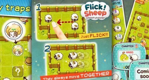 Flick Sheep! 1.4.2: Treib die Schafe zusammen!
