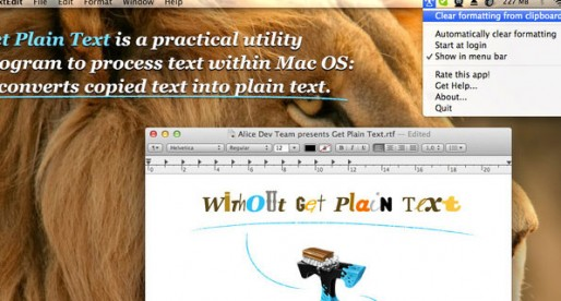 Get Plain Text 1.0: Plain texts for the Mac