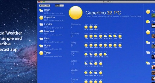 Social Weather 1.0.3: Weather forecast for the Mac