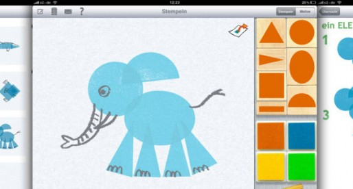 Stamping, painting, drawing 1.0.1: Now on the iPad – potato printing for kids