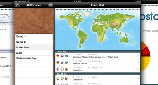 Webstatistik 1.0.1: Piwik-Evaluation for the iPad