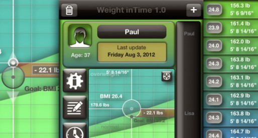 Weight inTime 1.0: Slim down with a little help