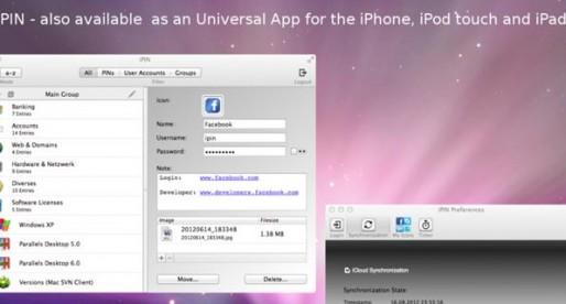 iPin 1.0 for the Mac: Passwords in iCloud