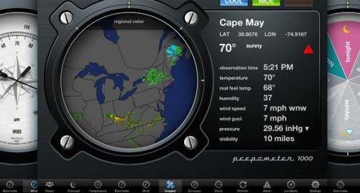 Peepometer 1.0.1: Cool weather report for the iPad