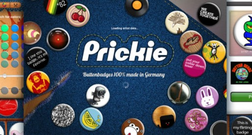 Prickie 1.0: 15,000 pin-on buttons