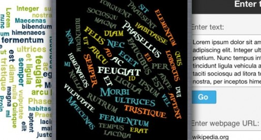 Word Collage 1.0: Say it with words!