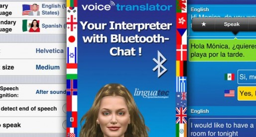 Voice Translator 1.0.0: Translation assistance with Bluetooth-Chat