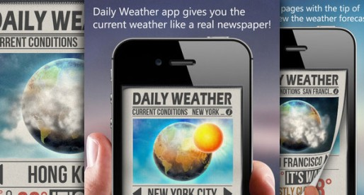 Daily Weather+ 1.3: The weather report in form of a daily newspaper