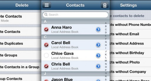 Delete Duplicates and Contacts 1.6: Manage your contacts