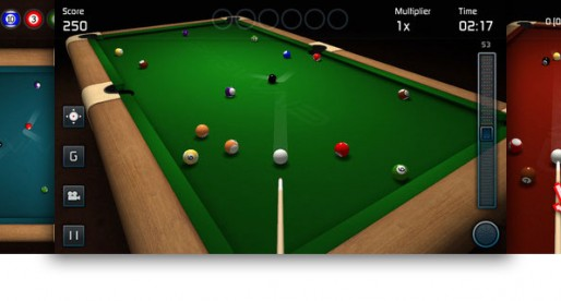 3D Pool Game: Playing pool at home