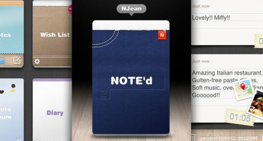 Note'd: Well done, intuitive app that lets you take notes