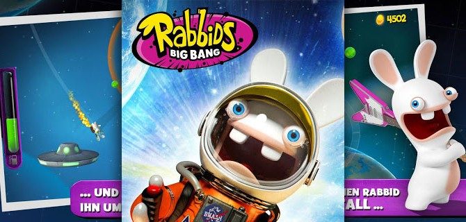 Rabbids Big Bang: A rabbit in outer space