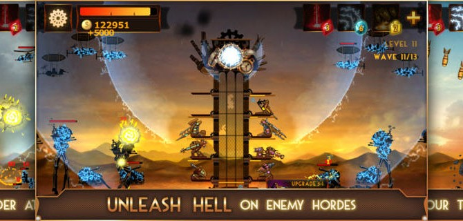 Steampunk Tower: High-tech battles in the style of the twenties