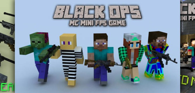 Black Ops: Multiplayer MC Mini FPS Game – Bloodthirsty pixel warriors