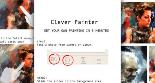 ClevrPainter: From photo to work of art – one step at a time