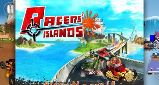 Racers Islands: Fahren und schießen in knallbunter Kulisse