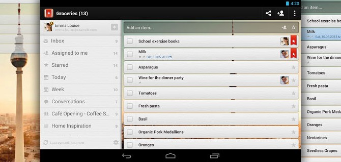 Wunderlist: Manage and share your to-do lists