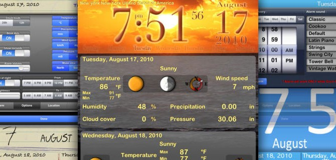 Dock Clock – weather with alarm and moon phases: All important data at a glance