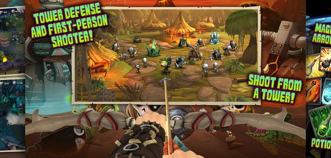 Skull Legends: Scary Action Shooter with towers, arrows and magic
