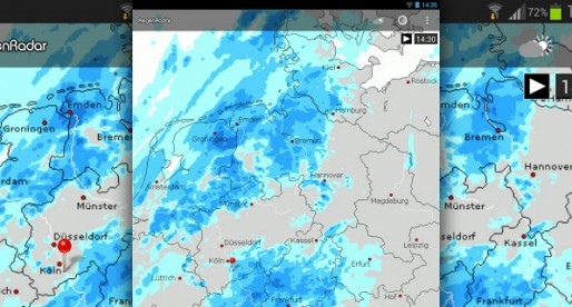 RegenRadar von WetterOnline: Is it going to rain today?