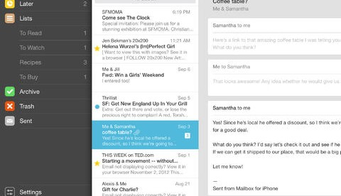 Mailbox: Finally more e-mail services have been added