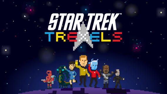 Star Trek Trexels: For all you retro and outer space fans