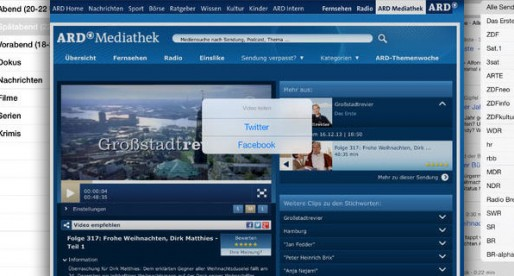 (Deutsch) Fernsehsuche: Die perfekte App für Nutzer von Mediatheken