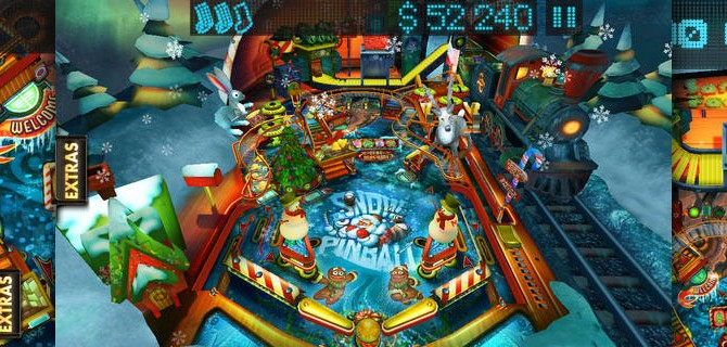 Snow Pinball: Play a frosty round of pinball