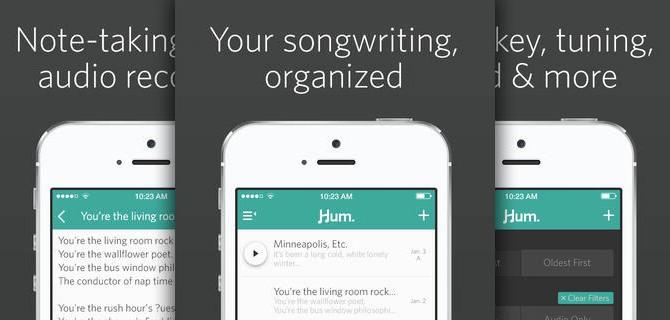 Hum: Write, send and organize your music via an app