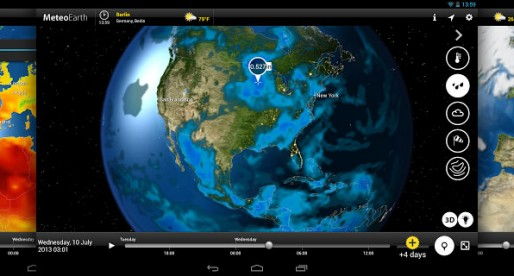 MeteoEarth: Beautiful weather on your smartphone