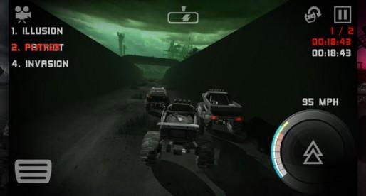 Uber Racer 3D Monster Truck Nightmare: Race across breakneck slopes in semi-darkness