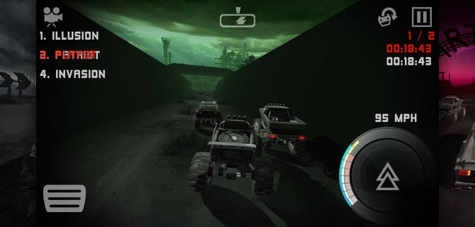 Uber Racer 3D Monster Truck Nightmare: Race across breakneck slopes in semi-darkness