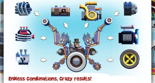 Loco Motors: Build a crazy race car and zoom down the stunt track