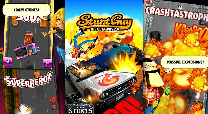 Stunt Guy 2.0: Trashy 2D Arcade Action with plenty of explosions