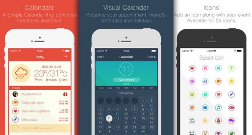 Calendate: A new calendar app that is stylish and customizable