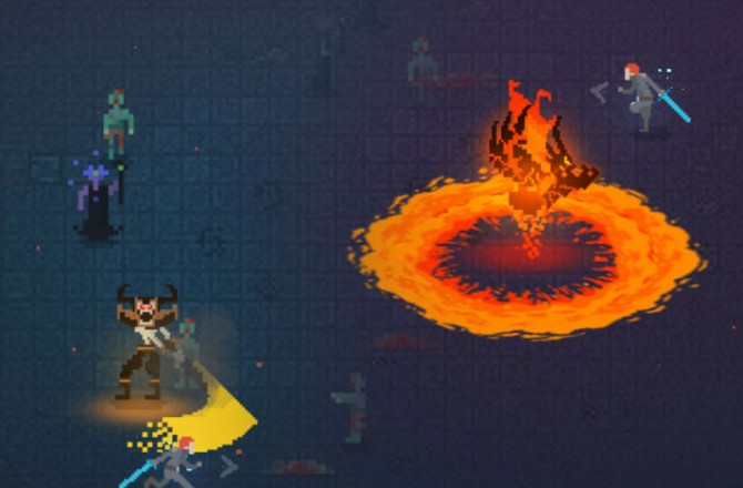 Dark Slash: Dynamic Hack'n'Slay in Ninja pixel style