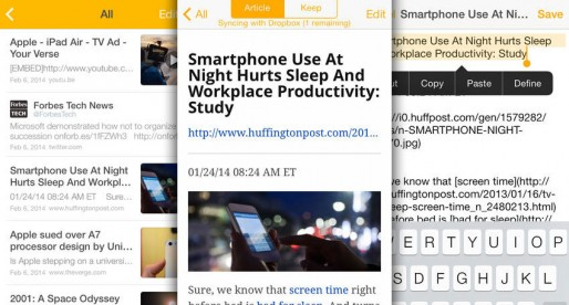 Keep Everything Premium: Everything in one (app) location