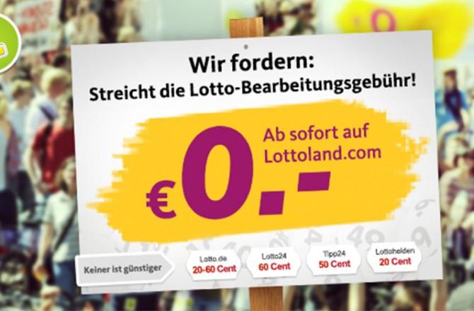 (Deutsch) Lottoland schafft mit neuem Update die Gebühren ab.