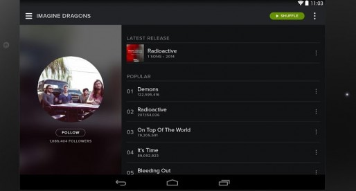 Spotify – Now available for Android in a new stylish look
