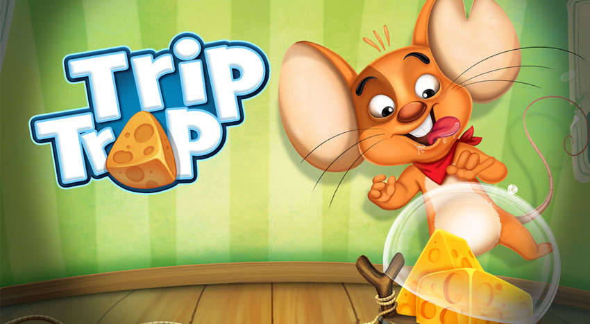 Trip Trap: Lots of cheese, lots of traps and a cute mouse