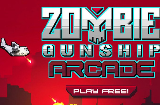 Zombie Gunship Arcade: Endless Zombie Shooter in Flappy Bird style
