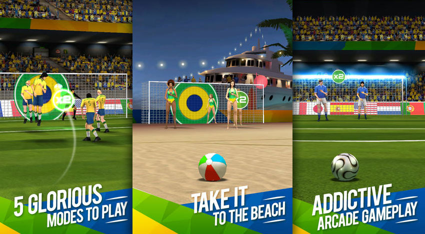 Flick Soccer Brazil: Can you do better than the stars?