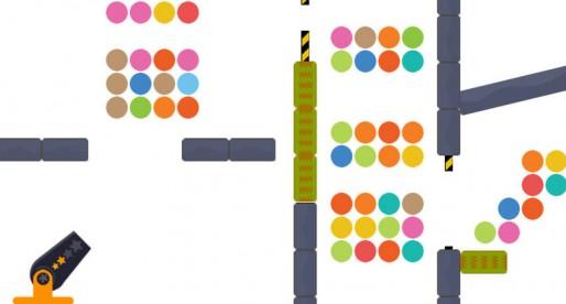 Shots and Dots: Netter Physik-Puzzler, in dem Ihr mit der Kanone bunte Punkte abschießt