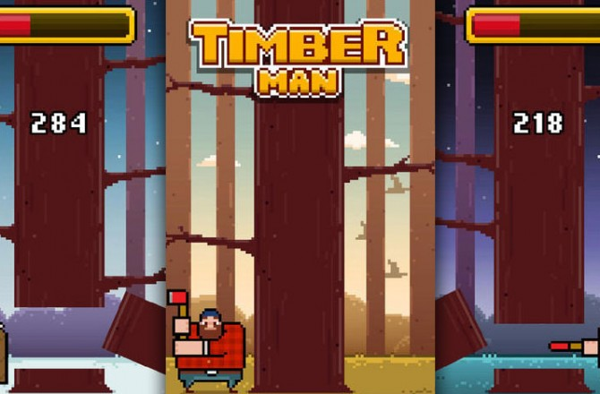 Timberman: Can you chop enough wood to crack the high score