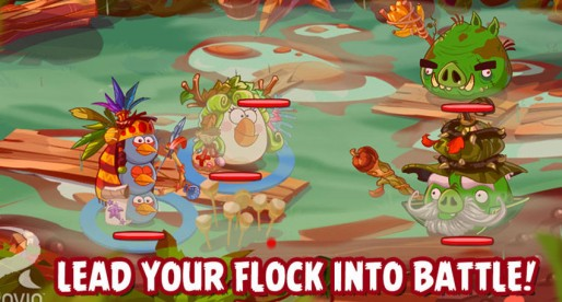 Angry Birds Epic: Role-playing Adventure that features colorful birds fighting on the ground