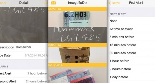 ImageToDo: No need to write down an appointment – just take a photo
